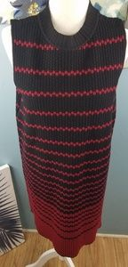 Nic + Zoe black and red dress size large